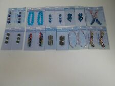 GLASS BEADS FOR JEWELRY MAKING - LOT OF 20 MIXED PACKS (1423)