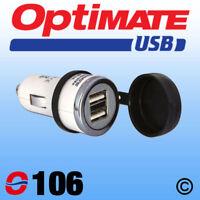 OptiMate 0106 Double USB Charger Cigarette Lighter Plug UK Supplier NEW