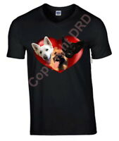 German Shepherd Dog Tshirt, T-shirt V or Crew Neck Birthday Gift
