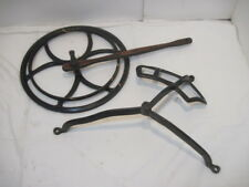 PF OLD CAST IRON WHEEL COVER WOOD TREDDLE SEWING MACHINE PARTS PRACTIAL FARMER