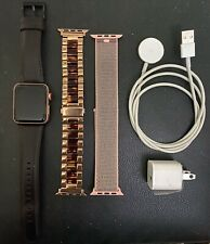 Apple Watch Series 3(GPS/Cellular) 42mm Gold Aluminium Case with 3 new bands