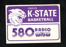 Kansas State Wildcats--1988-89 Basketball Pocket Schedule--WIBW/Holiday Inn