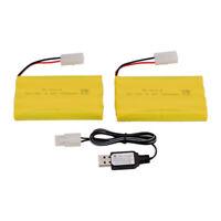 2 stücke 9,6 V 700 mAh Ni-Cd AA Batterie Pack Wiederaufladbare KET-2P Stecker