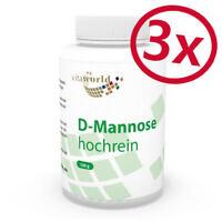 Vita World 3er Pack D-Mannose 3 x 100g Hochrein Pulver dmannose Made in Germany
