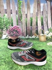 Saucony Cohesion 10 Size 10 Women's Gray/Black/Orange Running Shoes S15352-14