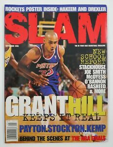 Sept. 1995 Slam NBA Pro Basketball Magazine #7 Grant Hill Cover