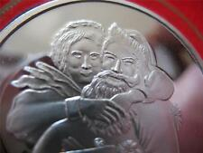 1-OZ.CHRISTMAS MRS CLAUSE & SANTA ENGRAVABLE IN RED BOX COIN SILVER .999+GOLD