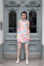 Damen Kleid dress weiß white Minikleid bunt 60er True VINTAGE 60s sommer women