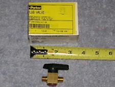 RV Marine Parker Brass Needle Plug Valve Pipe Hose Shut Off  2M-PR4-VT-B USA
