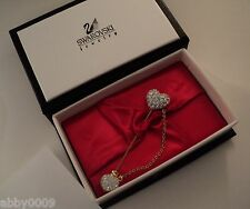 Signed Swan Swarovski Pave' with Clear Crystal Stick Pin in original box