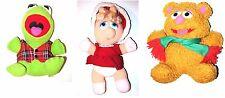 Kermit Miss piggy Fozzie set plush vintage christmas toys