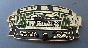 2013 Inaugural Season Toronto Argonauts Winnipeg Blue Bombers CFL stadium pin