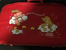 1983 Red Care Bears Suitcase