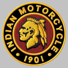 """INDIAN MOTORCYCLE EMBROIDERED PATCH ~3-1/4"""" LEFT IROQUOIS CHIEF SCOUT ROADMASTER"""