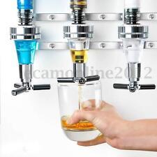 4 Bottle Beverage Liquor Dispenser Alcohol Drink Shot Cabinet Wall Mounted New