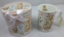 Cute Cat and Dog 9 oz Mug Coffee / Tea Cup with Tassel and Decorative Gift Box