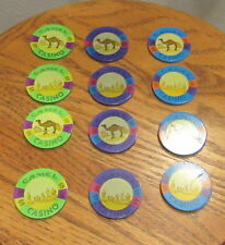 Joe Camel Collectible Clay Poker Chips 12 Chips Total Free Ship In the USA