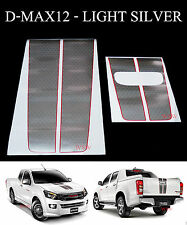 SILVER RED STICKER X-SERIES FRONT REAR TAILGATE FOR ISUZU D-MAX DMAX 2012-2015