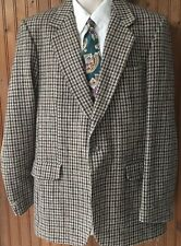 Magee 100% Wool Made In Donegal Ireland Houndstooth Mens 40R See Sizing