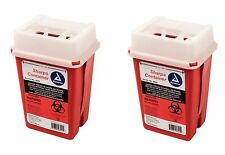 Sharps Container Biohazard Needle Disposal 1 Qt Size Medical Dental Tattoo 2ea