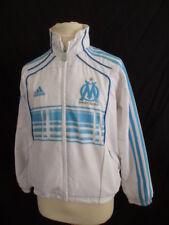 Veste de football vintage OM MARSEILLE Adidas Blanc Taille 8 ans