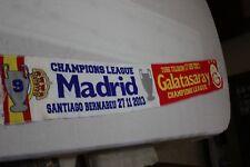 BUFANDA NUEVA CHAMPIONS LEAGUE ENTRE REAL MADRID Y GALATASARAY COTIZADA  SCARF