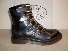 Steve Madden Sze 7.5 M MCBETH Navy Splashes Fashion Ankle Boots New Womens Shoes