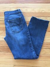 A.N.A Women Straight Leg Embellished Denim Blue Jeans Size 8/29