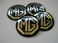 Mg MGB ROSTYLE WHEEL CENTER CAP EMBLEMS 4 ALUMINUM STICKERS DECAL CONED 1 7/8""