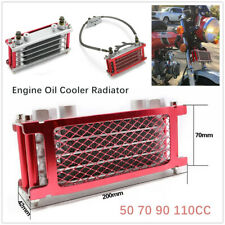 Dirt Bike Motorcycle Oil Cooler Radiator For 50 70 90 110CC Horizontal Engines