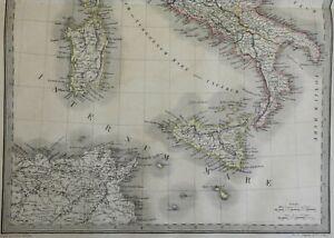 Ancient Italy Roman Empire Cisalpine Gaul Latium 1842 Lapie large folio map