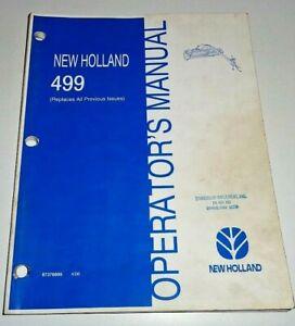 New Holland 499 Mower Conditioner Operators Maintenance Manual 4/06 NH Original!