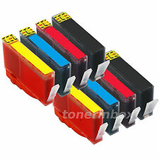 8 Pack Ink Set For HP 564XL Deskjet 3070a 3520 3521 3522 3526 SHOW INK LEVEL