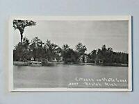 Vtg. Cottages on Platte Lake, Beulah MI 1947 Post Real Photo Postcard 6966