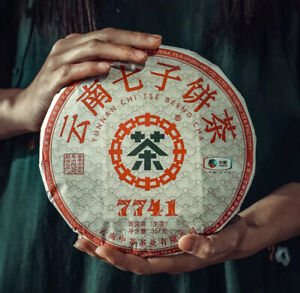 357g,China Ynnan 2020 Zhong Chi tse 7741 menghai qizi Pu'erh Puerh Raw Cake tea