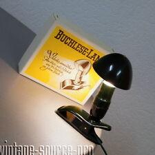 grüne Hergil Bakelit Buchklemmlampe Buchleselampe Pilzlampe mid Century 50er J.