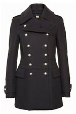 $1395 Burberry London Milbridgen Wool Military Navy Pea Coat Jacket 8-42 Peacoat