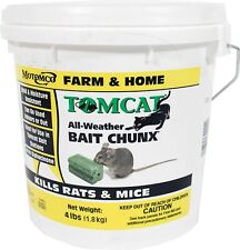 New listing Tomcat Bait Chunx 4 Lbs Rats Mice Mouse Killer Poison Food Pest Rodent Control.