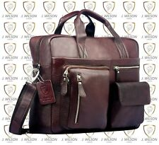 Mens Leather Laptop Bag Designer Ladies Shoulder Cross Body Work Messenger Case