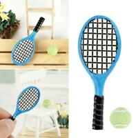 1:12 Scale Mini Tennis Racket Miniatures Dollhouse Decor Accessories
