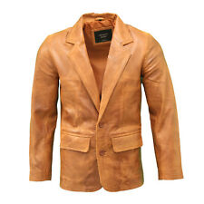 Men's Cobra Tan Brown Casual Tailored Slim Fitted two Buttons Blazer Jacket
