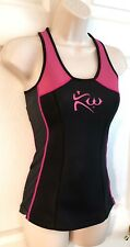 Kutting Weight Sauna Suit XS Neoprene Black Pink Tank Top Cutting Weight Loss