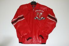 PellePelle: Leather Collared Bomber - Red SZ: 44