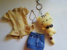 Bjd 1/4 Handmade Doll Clothing Lot Girl Fits Minifee Peplum Top & Mini Skirt