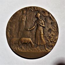FRANCE-CIRCA 1900-JOAN OF ARK -BRONZE by BAUDICHON