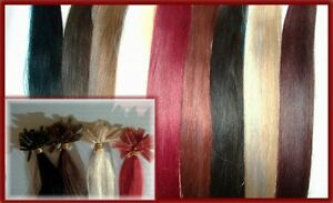 50 indische Echhaarsträhnen, Haarverlängerung # 80 cm, 1g Extensions schwarz 50g