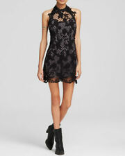 NWT FREE PEOPLE Snow Drop Lace Trapeze Dress in Black $250 - L