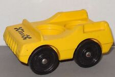 Vintage Fisher Price Little People yellow Taxi Play Family Main Street #2500