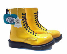 Solovair Dr. Martens Doc England Limited Edition Yellow 11 Eye Boots UK 5 US 7