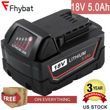 18V 5.0Ah replace For M18 Milwaukee Lithium Battery Max 48-11-1850 power Tool